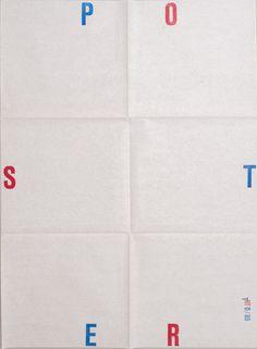 Karel Martens Untitled , 1989 Letterpress poster on paper 19 ½ x 27 ½ in. 495 x 698 mm Typography Letters, Graphic Design Typography, Graphic Design Illustration, Lettering, Graphic Posters, Design Art, Print Design, Logo Design, Karel Martens