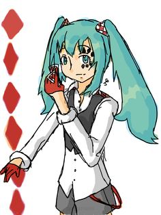 """My version of Hatsune Miku for """"Poker Face"""""""