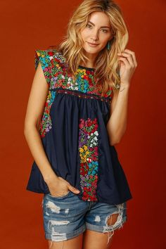 Vista Hermosa Top, Navy