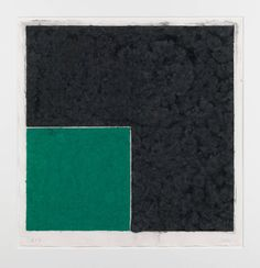 ELLSWORTH KELLY - COLORED PAPER IMAGE XVIII (GREEN SQUARE WITH DARK GREY): AXSOM CAT. #158 - ROBERT FONTAINE GALLERY http://www.widewalls.ch/artwork/ellsworth-kelly/colored-paper-image-xviii-green-square-with-dark-grey-axsom-cat-158/ #print