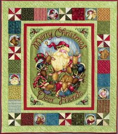 "This kit includes the panel and coordinating fabrics from Nancy Halvorsen's fabric line ""Jingle All the Way""...Border fabrics and 20 different FQ's. Jingle All the Way Panel by Nancy Halvorson."