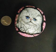 Handpainted+White+Persian+Cat+in+pink+polka+by+purpleshammrockshop,+$25.00