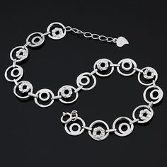 Electricity Gold Sterling Silver Bracelets Of Flowers