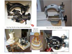 Rose's Antique Millinery Straw Braid Machines