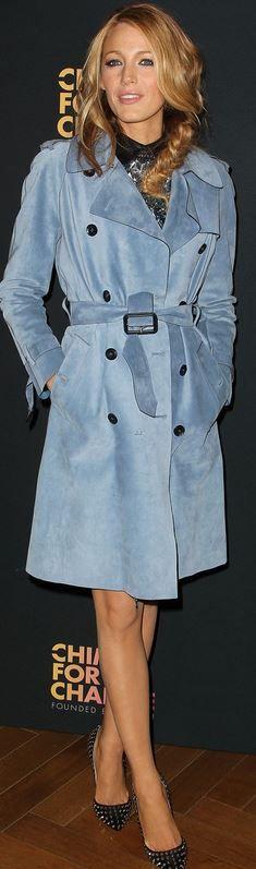 Blake Lively: Coat – Gucci  Shoes – Christian Louboutin