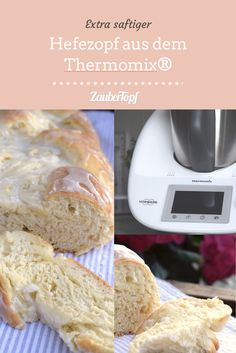 Hefezopf aus dem Thermomix® – Foto: Nicole Stroschein Pampered Chef, Dory, Bagel, French Toast, Oatmeal, Food And Drink, Yummy Food, Favorite Recipes, Sweets