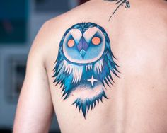 Owl tattoo by Jagoda Inktica