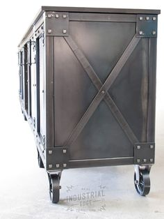 Past Custom Projects | Real Industrial Edge Furniture / Industrial Furniture / Metal Table / Steel Table / Cast Iron Casters / Custom Industrial Furniture / Industrial Chic Design