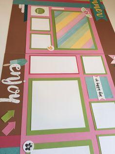 Calypso - Summer themed scrapbooking layout