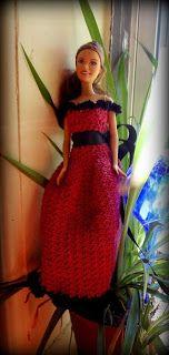 Cherise Barbie Dress Free Crochet Pattern http://www.niftynnifer.com/2013/08/cherise-barbie-dress-free-crochet.html