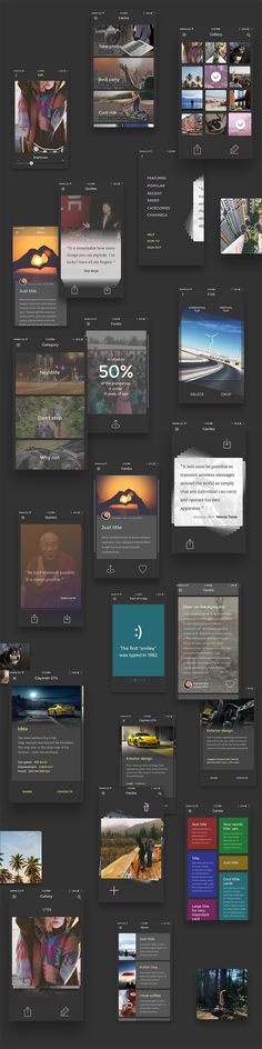 Cardzz: iOS PSD UI Kit #PSDuikit #freePSD