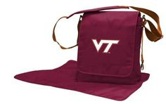 Lil Fan Virginia Tech VT Hokies Diaper Messenger Bag