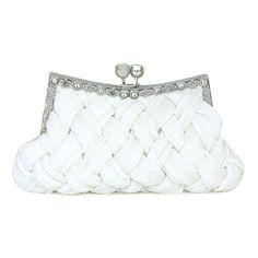 Chic Silk Handbag With Nice Criss-cross Pattern