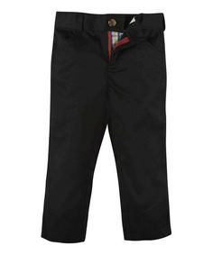 This Black Twill Pants - Infant, Toddler & Boys is perfect! #zulilyfinds