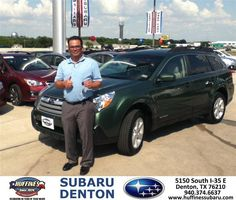 https://flic.kr/p/vbNJRv | #HappyAnniversary to Edward Escobar on your 2013 #Subaru #Outback from Rick Salsman at Huffines Subaru Denton! | www.huffinessubaru.com/?utm_source=Flickr&utm_medium=...