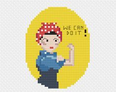 Frida Kahlo Cross Stitch Pattern Downloadable PDF