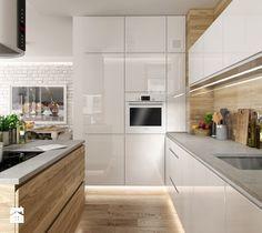 Portafolio - cocina mediana en estilo escandinavo - Foto de PEKA STUDIO - H . Farmhouse Style Kitchen, Modern Farmhouse Kitchens, Home Decor Kitchen, Kitchen Living, New Kitchen, Home Kitchens, Medium Kitchen, Awesome Kitchen, Modern Kitchen Interiors