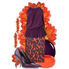 """44/50: Orange + Purple"" by eiluned on Polyvore"