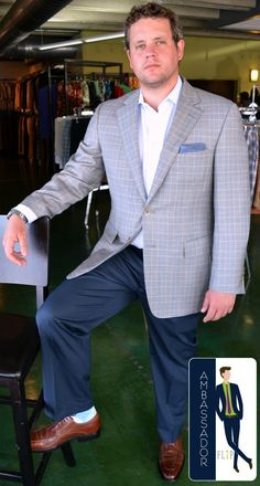 Meet Nathan, a FLIP Ambassador! Nathan came in looking for a date outfit & he looks great in the Samuelsohn blazer, Cole Haan shoes, FLIP pocket square & we dig the socks! Thanks Nathan!