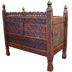 Love this antique, hand-carved chest.  It looks almost identical to one featured in Architectural Digest, in the home of Pierre Cardin, a few years ago!