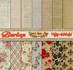 Burlap Digital Paper Rustic Digital Paper 14 by DigitalMagicShop