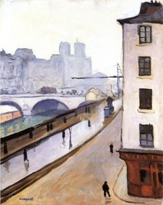 Albert Marquet (1875 - 1947) | Post-Impressionism | The Pont Saint-Michel and Notre Dame - 1905