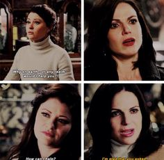 Belle and Regina in 3x18 and 4x18