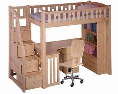 ikea bed desk closet combo