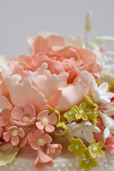spring flowers wedding cake from RosalindMillerCakes