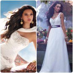 Jasmine, Disney, princesse, princess, mariage, wedding, robe , wedding dress, gown, alfred angelo