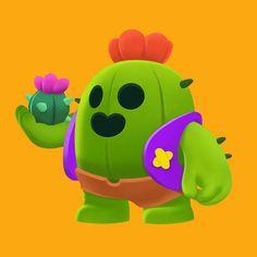 "23 Suka, 2 Komentar - (• ´´(●) (@kyadoong) di Instagram: ""Brawl Stars Spike 아이패드 프로크리에이트/ipad drawing✍️ 🌵 ▶️Youtube @Kyadoong"" Star Character, Character Drawing, Pokemon, Pikachu, Playstation, Xbox, Boy Sleepover, Star Wallpaper, Cartoon Games"