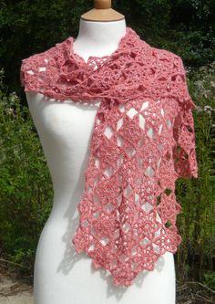 CLEMENTINE Crochet Scarf PDF Pattern by queenieamanda on Etsy, £3.00