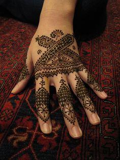 Henna for Elaine Finger Tattoo For Women, Finger Tattoos, Tattoos For Women, Traditional Tattoo Woman, Geometric Henna, Moroccan Henna, Wedding Mehndi Designs, Black Henna, Henna Tattoo Designs
