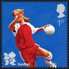 Royal Mail London 2012 Olympics stamp - handball