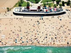 North Avenue Beach, Chicago...one of my favorite spots in the summer. Breath taking view of the skyline, sand volleyball, Lake Michigan, and a tan all in the same day here :)