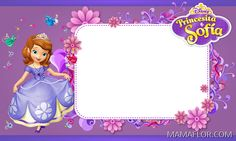 Sofia The First Free Printable Invitations Cards Or Photo Frames