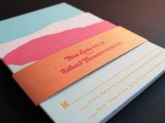 drool worthy wedding invitations unique wedding paper Ladyfingers Letterpress 6 neon