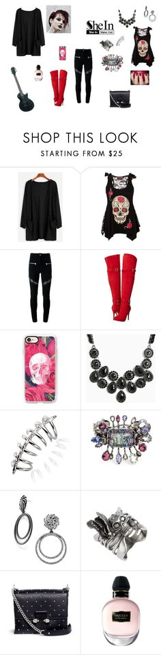 """""""A Little Bit Goth"""" by browncoat4ever ❤ liked on Polyvore featuring Givenchy, Michael Antonio, Casetify, Torrid, Stephen Webster, Alexander McQueen and BaubleBar"""