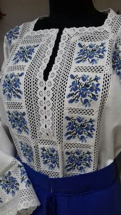 Machine Embroidery Designs, Embroidery Stitches, Embroidery Patterns, Hand Embroidery, Crochet Patterns, Blouse Styles, Blouse Designs, Palestinian Embroidery, Baby Dress Patterns