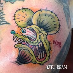 One eyed #ratfink on my good friend @andy_schmidt_bodyelectric Thank you #beardotattoo  - Looking for an artist to turn your idea in to a kickass tattoo? Let's talk. Get in touch a jesper@bram.tattoo or direct message. #bramtattoo #jesperbram #tatovering #tatovør #tatoveringer #dansktatovørlaug #copenhagentattoo
