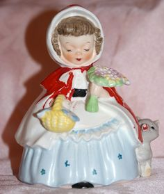 Authentic 1956 Napco Little Red Riding Hood Figurine s 1492
