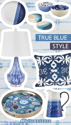 To thine own blue self be true! Mix and match #MyHomeSense patterns and hues like indigo, shibori, and ombré to achieve the perfect medley. Find your nearest store on our website now.