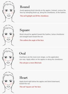 Pure Mineral Blush can enhance your natural beauty; so make sure you know the best techniques for your unique face. What shape face do you have? Round, Square, Oval or Heart?