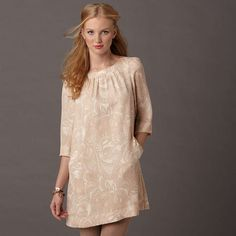 Fossil  NEW Ginger Dress $88  We love print and pattern, so our Ginger dress is a natural favorite. With quarter-length sleeves and a simple silhouette, it's our go-to for holiday parties and at-home gatherings alike.    I want the black one with birds!