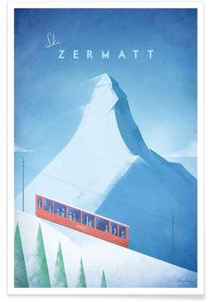 Zermatt en Affiche premium par Henry Rivers | JUNIQE