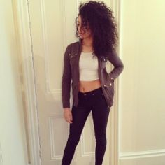 Shereen Cutkelvin of Neon Jungle. Her naturally curly hair is FAB!