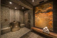 Contemporary Master Bathroom with Diamond Spas Custom Japanese Soaking Tub, Master bathroom, Handheld showerhead, Rain shower