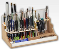 HobbyZone Brushes & Tools Workstation Module Art Studio Desk Tidy for sale online Hobby Desk, Hobby Cnc, Hobby Tools, Hobby Supplies, Craft Storage, Tool Storage, Ideas Para Organizar, Desk Tidy, Workshop Organization
