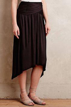 Benoite Skirt. Like the hi-low hem & flattering drape.