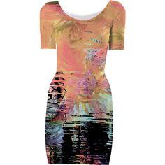 Abstract Bodycon Dress